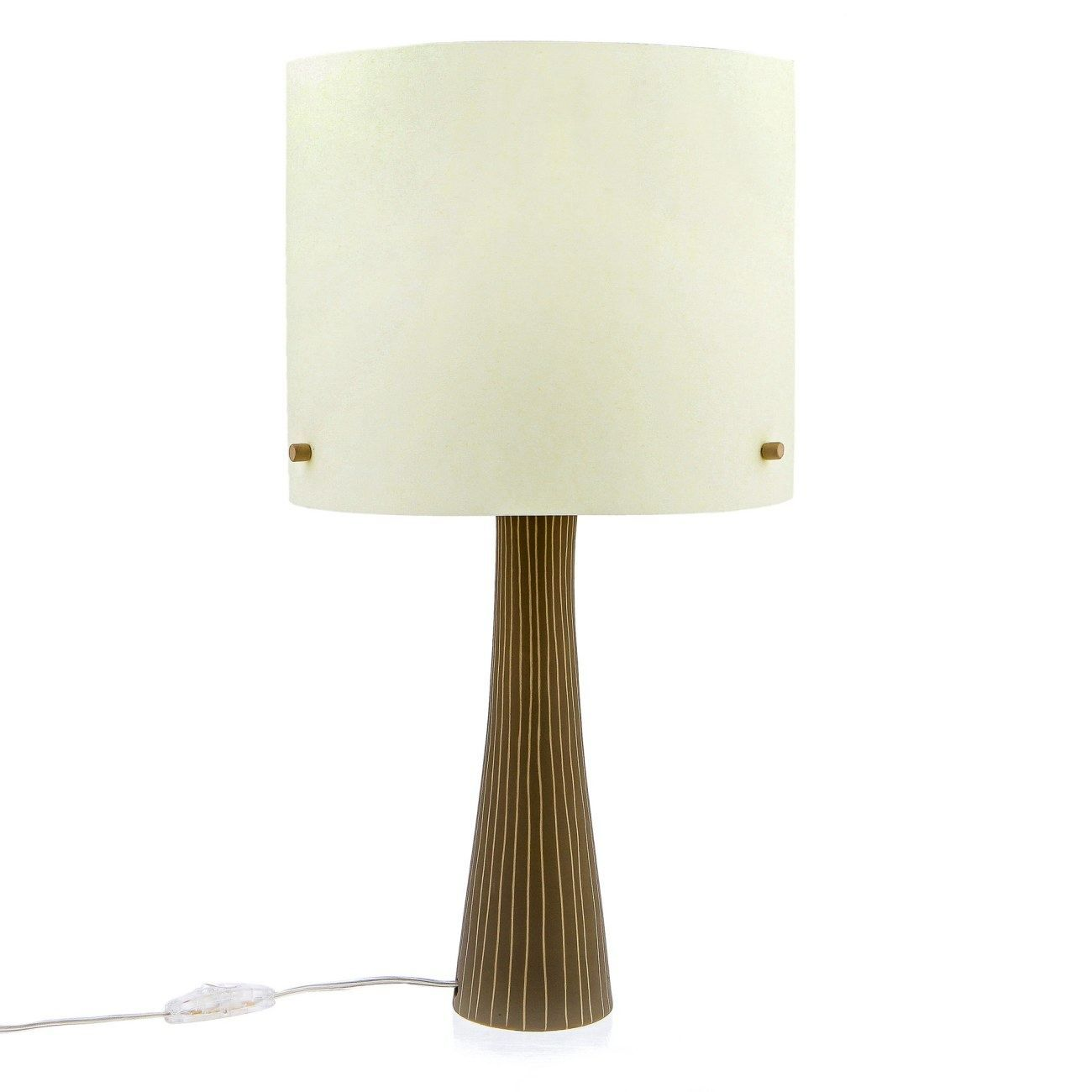 Modern handmade ceramic table lamp with shade beige small modern handmade ceramic table lamp with shade beige small geotapseo Choice Image