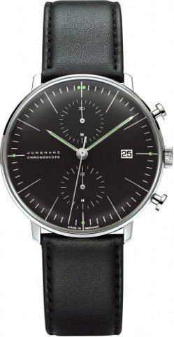 All About Time - Clock Store: 027/4601.00 Max Bill Chronoscope by Junghans
