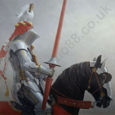 Painting of Joust Knight by Graham Turner   The Joust ...