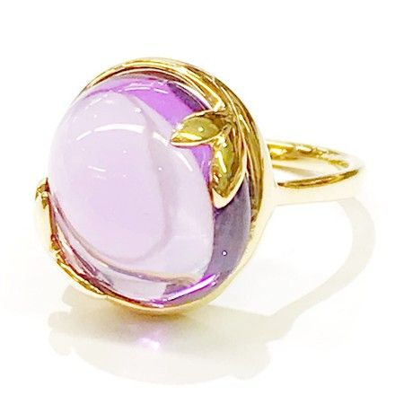 d95bf8bf2 Tiffany & Co. Paloma Picasso 18 Karat Yellow Gold Olive Leaf with Amethyst  Ring.