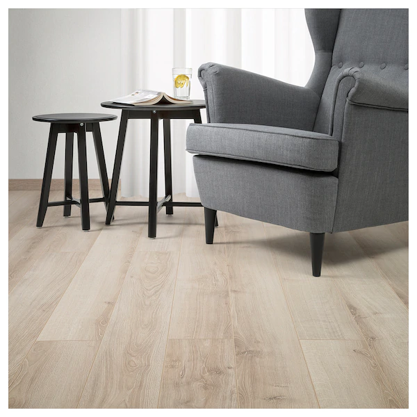 GRÄSMARK Laminated flooring oak effect, light brown