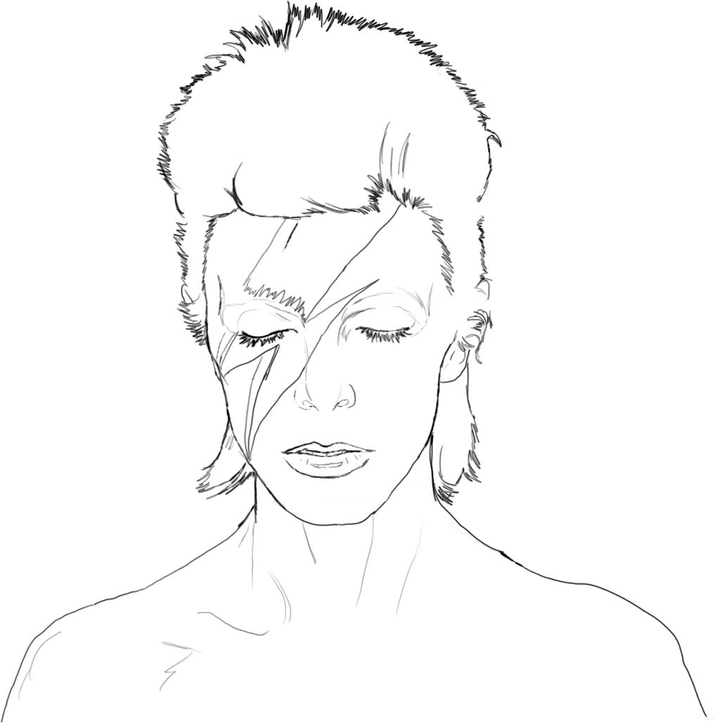 The David Bowie Coloring Book Photo Bowie Art Coloring Books David Bowie