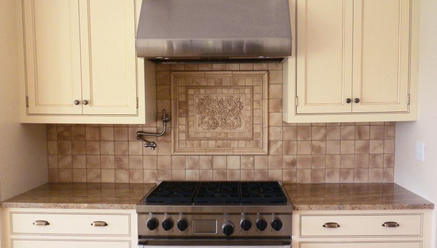 refreshing backsplash medallions kitchen on kitchen with kitchen backsplash mozaic insert tiles decorative medallion tiles nice contrasting backsplash on antique white cabinets   ideas for      rh   pinterest com