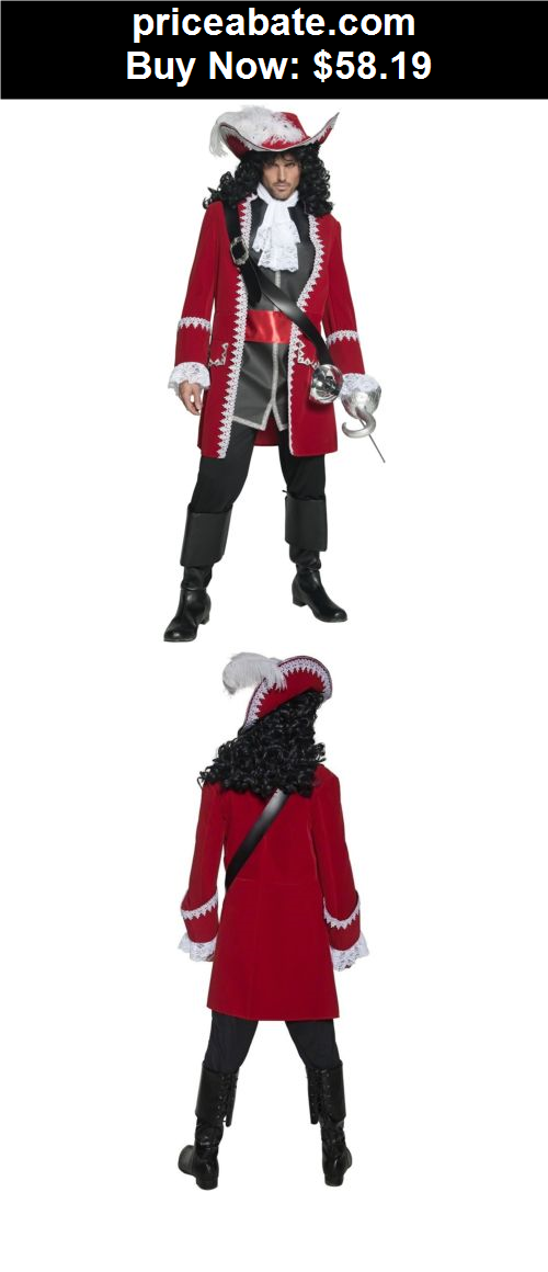 Captain Hook Costume Adult Pirate Halloween Fancy Dress