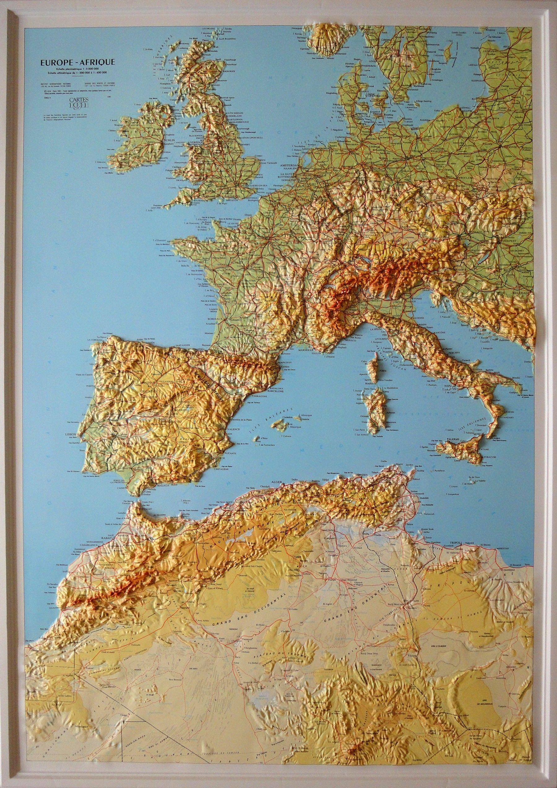 Europe Afrique Du Nord Relief 1 Carte Relief Afrique