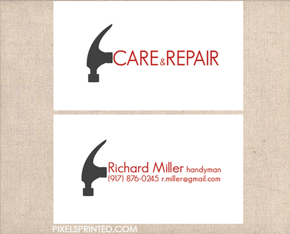 handyman business cards, contractor business cards, electrician ...