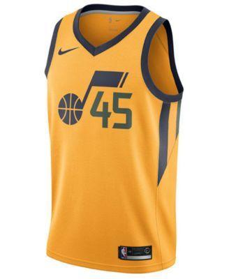1f27ae76195 Nike Men's Donovan Mitchell Utah Jazz Statement Swingman Jersey - Yellow XXL