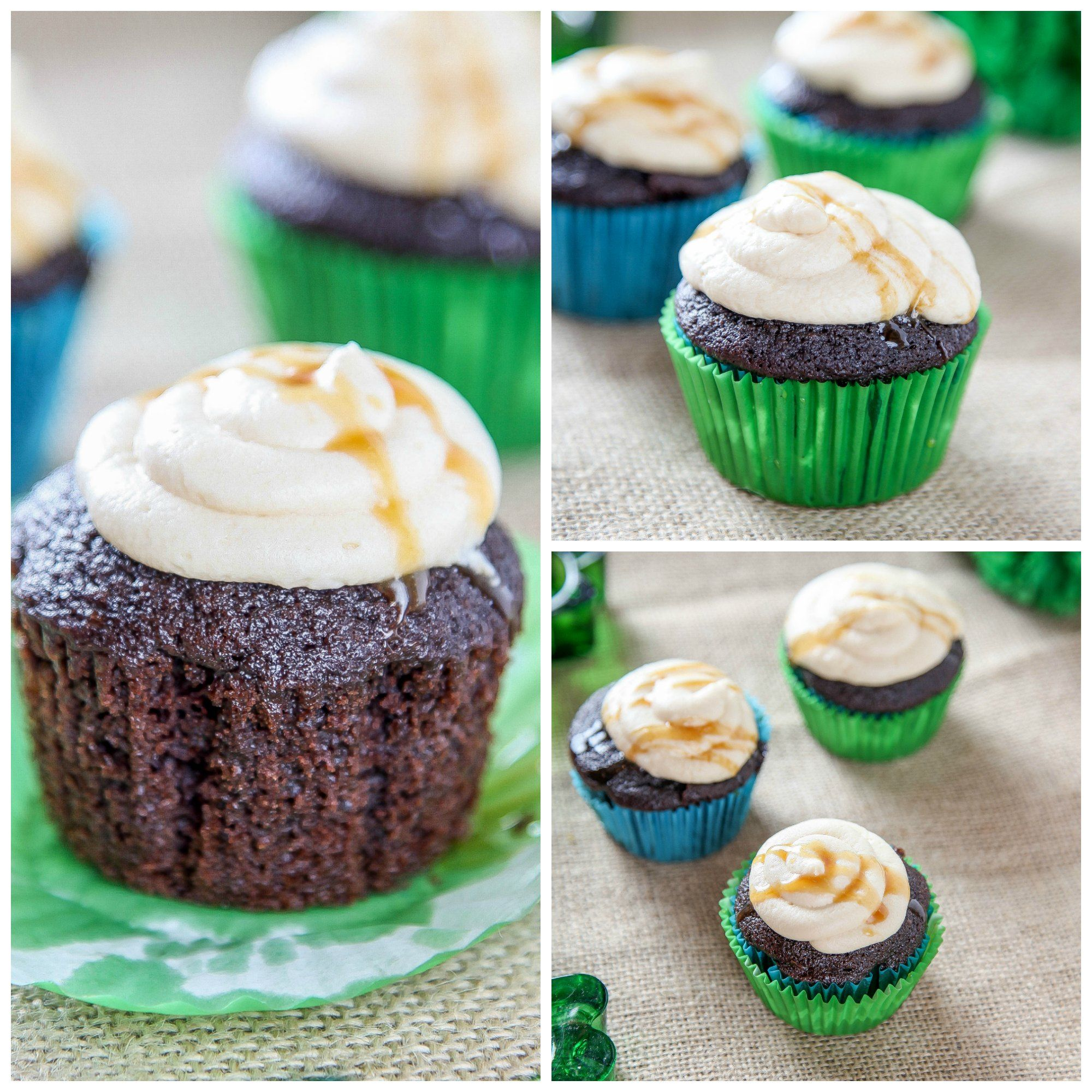 Guinness Cupcake collage