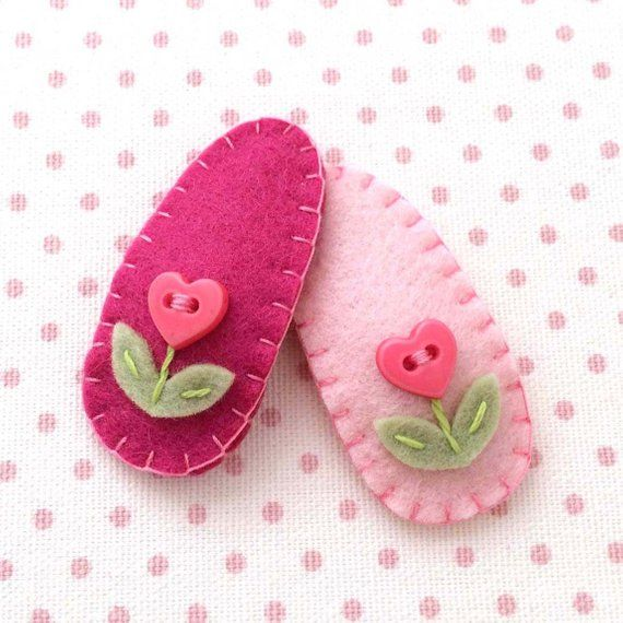 Items similar to Baby Hair Accessories, Toddler Hair Clip, Baby Hair Clip, Felt Hair Clip for Toddlers and Infants, Girl Hair Accessories, Baby Hair Clip on Etsy #babyhairclips