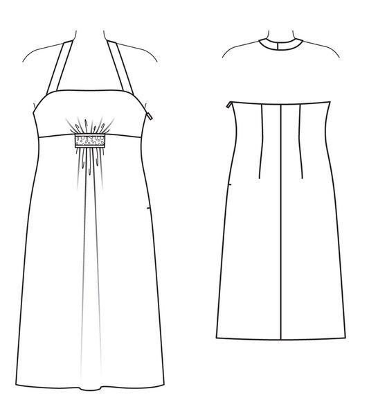 robe dos-nu 132 - Burda juillet 2013
