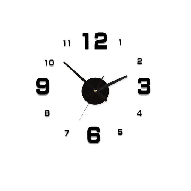 Fair Price Acrylic Best Home Decoration Diy Wall Clock Unique Large Number Fashion Stickers Self Adhesive Home Decor Moder Proyectos De Madera De Madera Madera