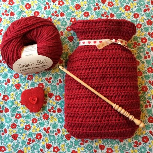 Free Crochet Hot Water Bottle Cover Pattern Hot Water Bottle Cover
