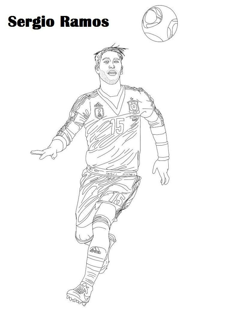 sergio ramos soccer player coloring picture | sport coloring page in ...