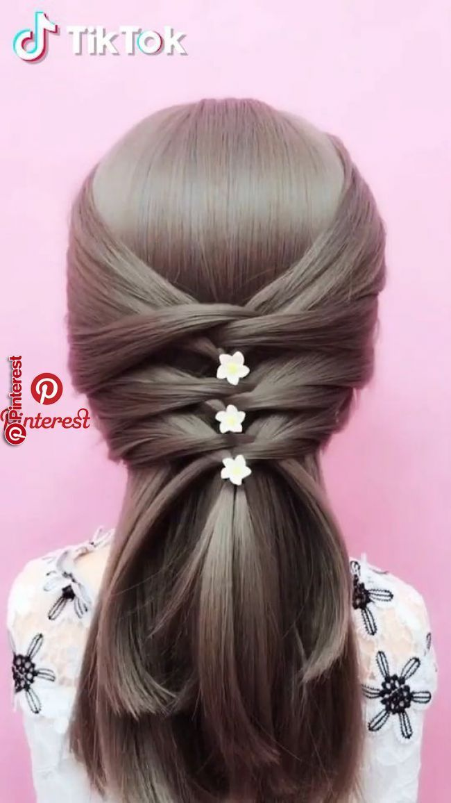Tiktok Watch Funny Short Videos Super Easy To Try A New Hairstyle Download Tiktok Today To Find More Amazing Long Hair Styles Cool Hairstyles Hair Hacks