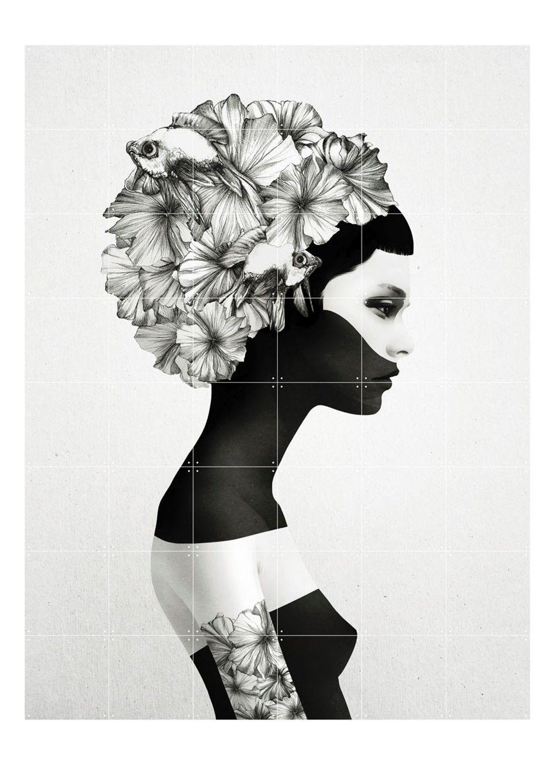 Ixxi Marianna Wanddecoratie Grijs De Bijenkorf Zwart Wit Schilderij Wit Kunst