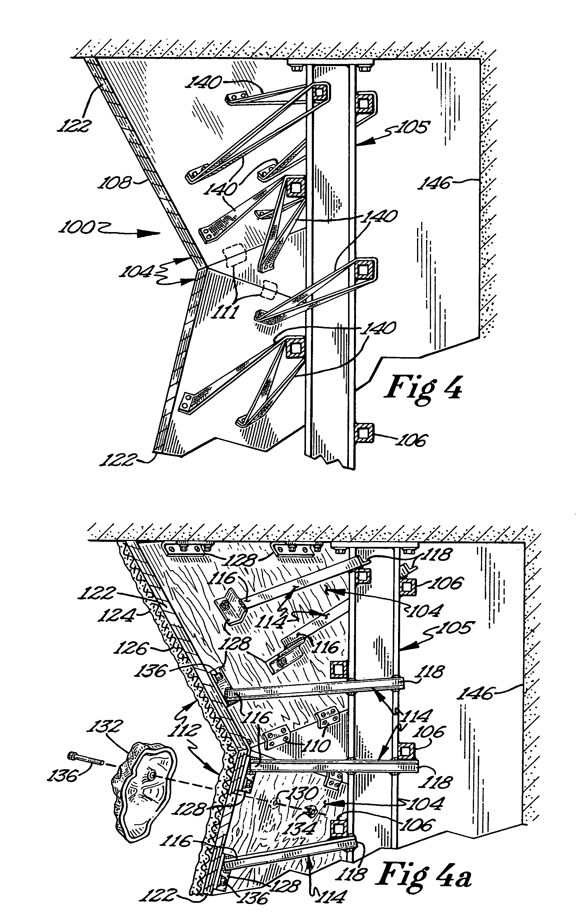 Us7572207b2 Climbing Wall Structure And Method Of Construction