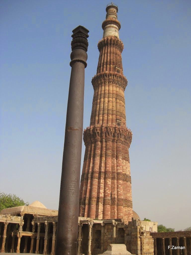 Qutub minar is the tallest brick minaret in the world with a height of 72 5 meter it is designed according to the indo mughal architecture style