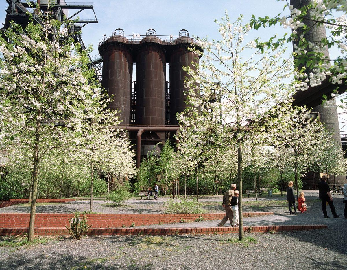 Duisburg Nord Blast Furnace Park Paesaggi Architettura Sostenibile Parco