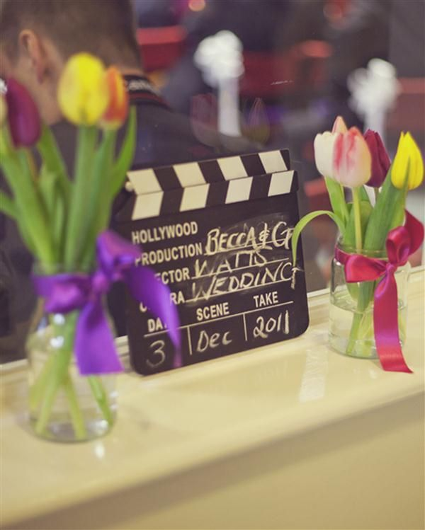 cinema theme wedding image by Lydia Stamps Photography