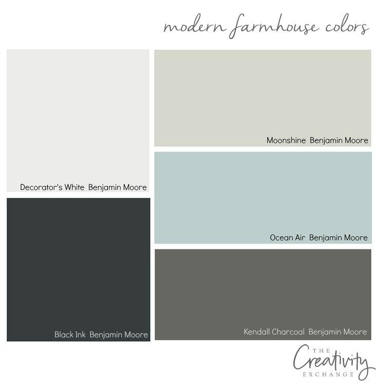 Transitional Paint Color Palette Color Palette Monday 3: Moody Monday: Chic Modern Farmhouse Style