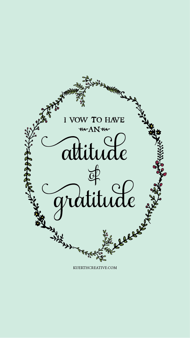 Mint green black floral wreath Attitude Gratitude iphone