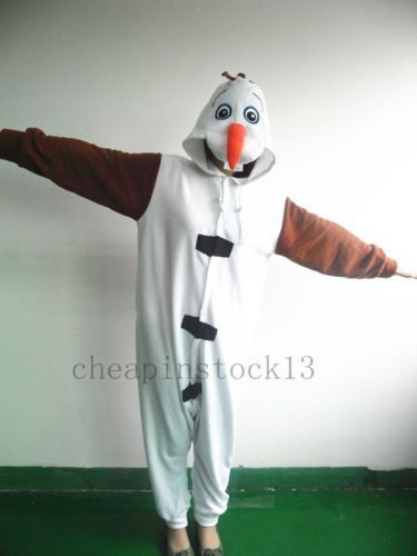 Disney-Frozen-olaf-snowman-Adult-Teen-pajamas-onesies-costume-pyjamas -cosplay 15c3e4ca6
