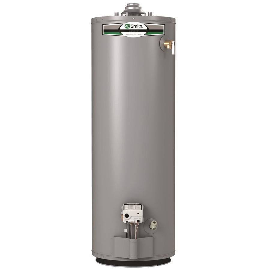A O Smith Signature 6 Year Limited Tall Natural Gas Water Heater In 2020 Natural Gas Water Heater Water Heating Systems Water Heating