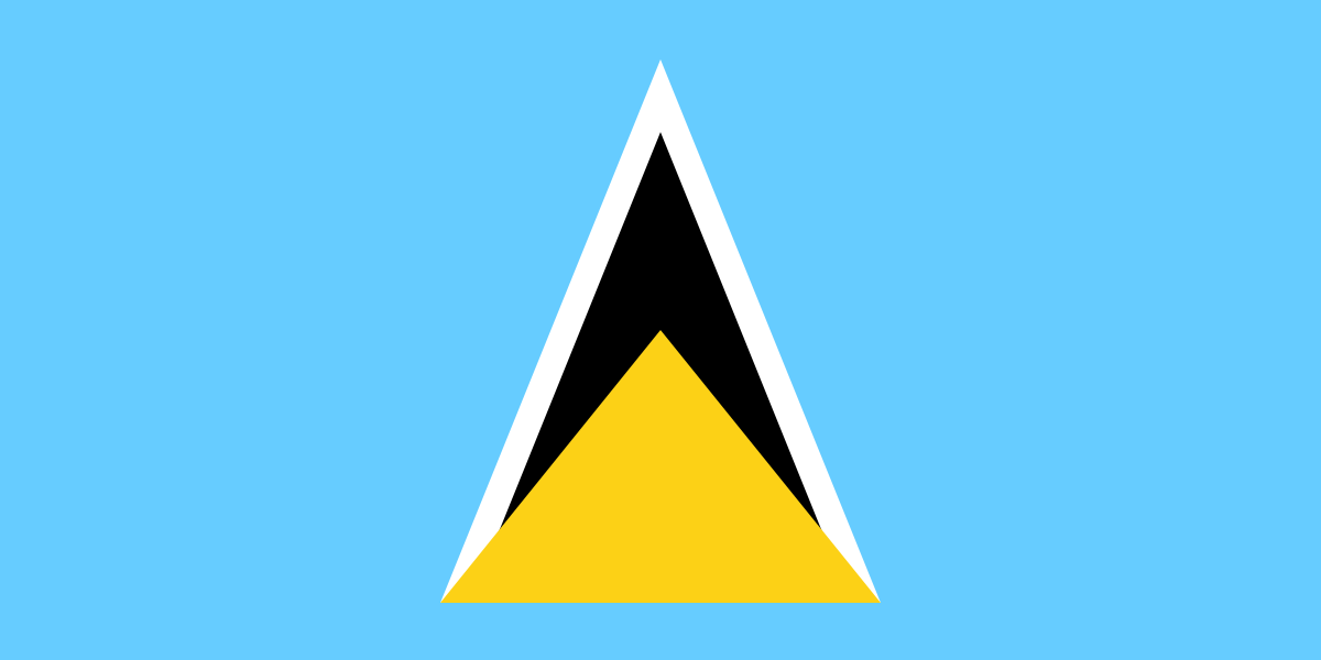 Saint Lucia St Lucia Flag St Lucia Saint Lucian Flag