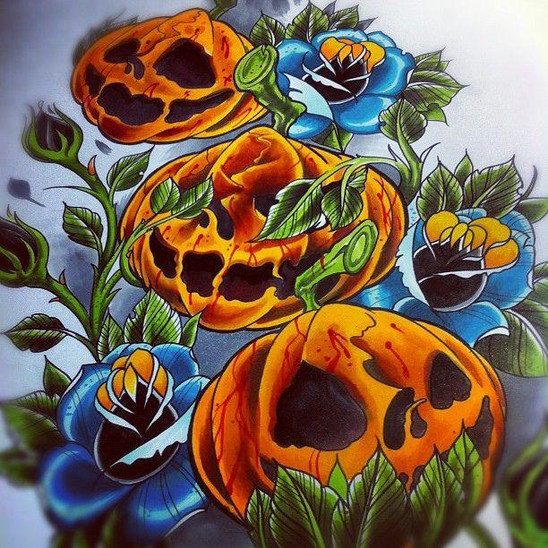 Hear no evil see no evil speak no evil pumpkins tattoo for Tattoos of pumpkins