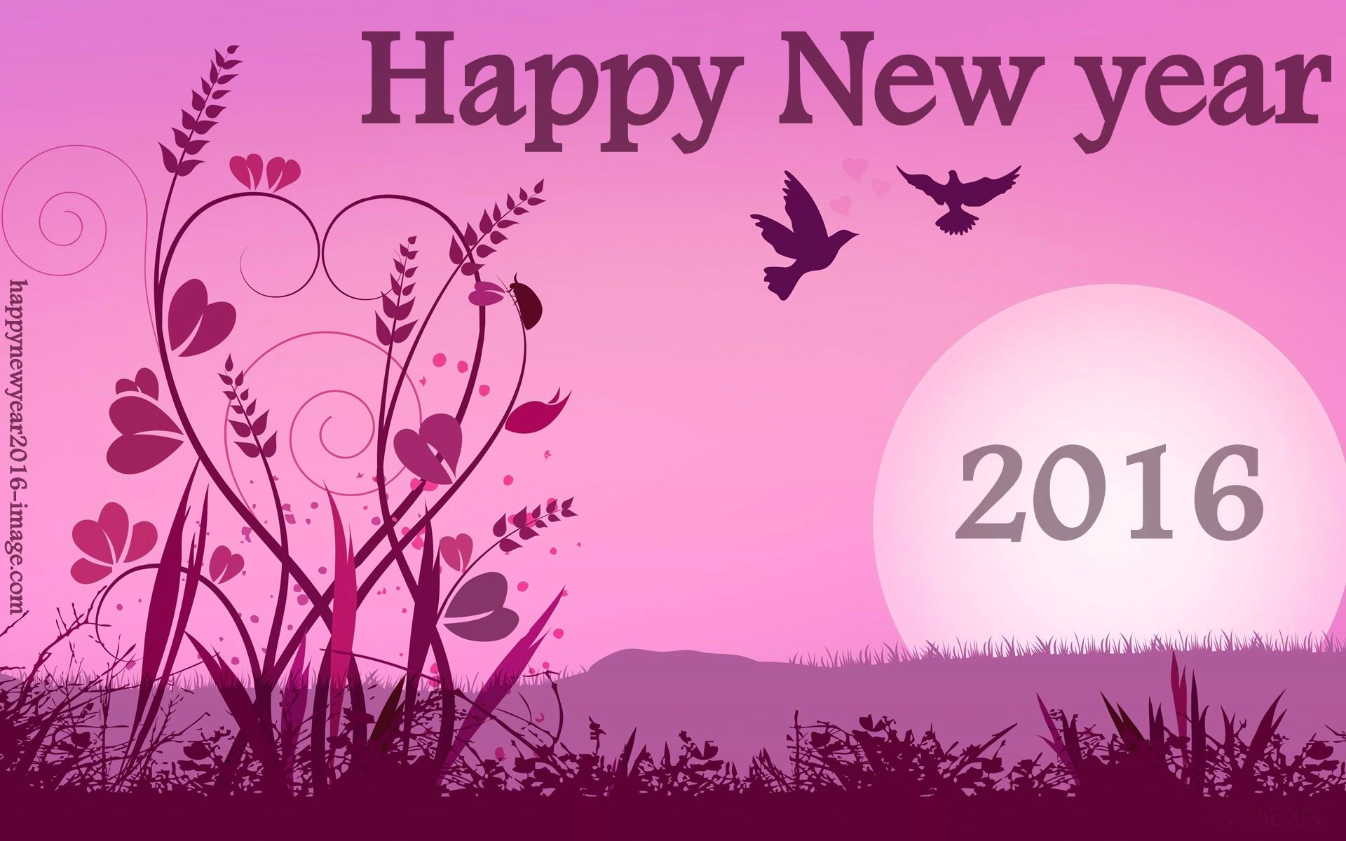pink night happy new year 2016 happy new year wallpapers christmas