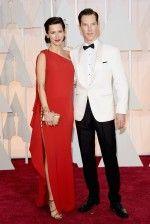 """Sophie Hunter e Benedict Cumberbatch, indicado ao Oscar de melhor ator por """"O Jogo da Imitação"""""""