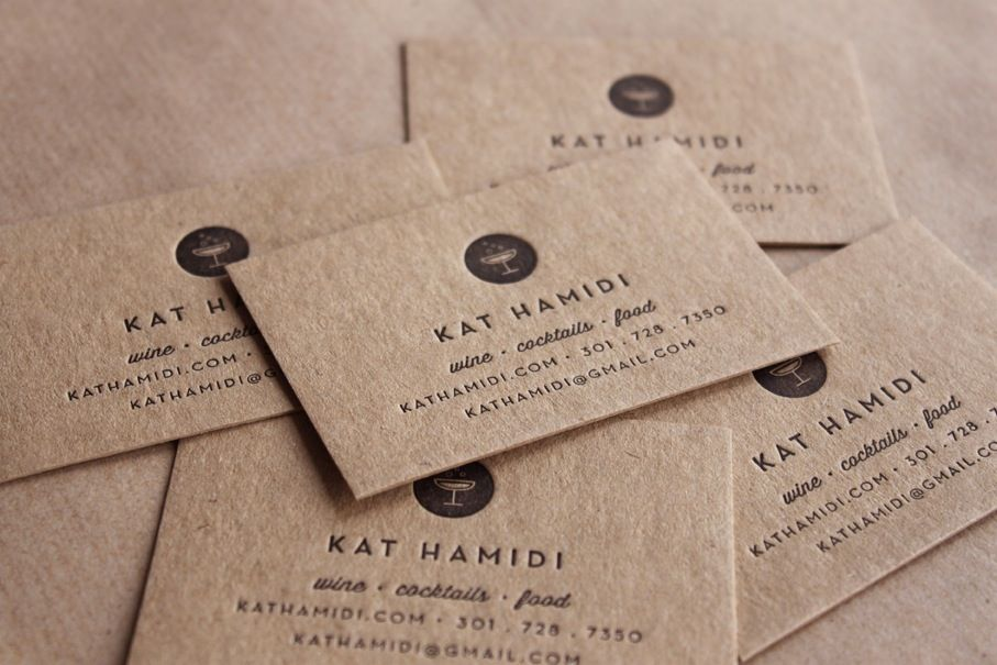 Image of Letterpress Business Cards, Recycled // made to order ...