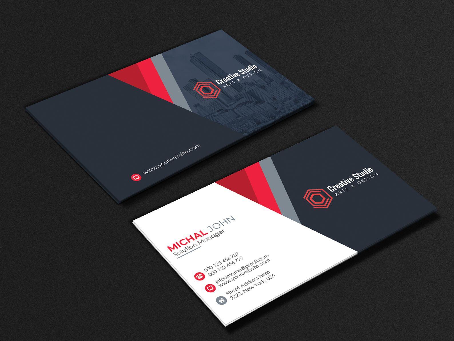 Corporate Business Card Minimalist Business Cards Business Card Design Corporate Business Card