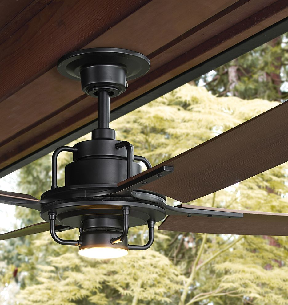 Peregrine Industrial Led Ceiling Fan Rejuvenation Industrial Ceiling Fan Ceiling Fan Black Ceiling Fan