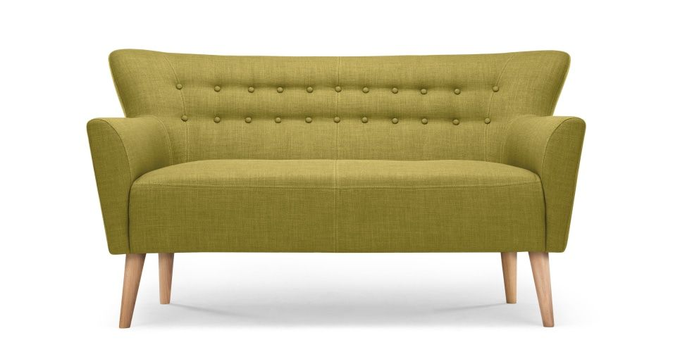 Quentin 2 Seater Sofa Lemongrass Green 2 Seater Sofa Affordable Sofa Small Sofa