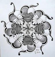 Tekenpraktijk De Innerlijke Wereld: KLEUREN of TANGLEN: Zentangle on Hearts Tile