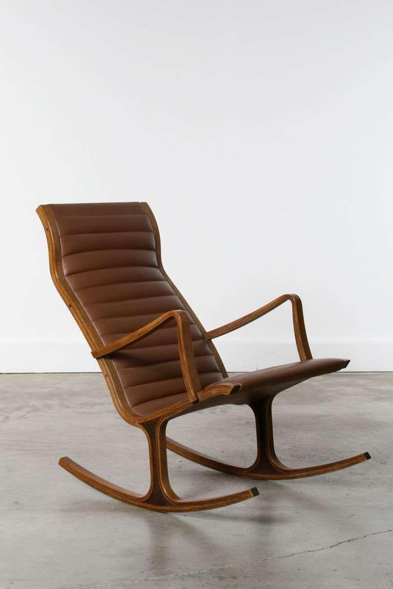 Heron Rocking Chair By Mitsumasa Sugasawa For Tendo Mokko Japan