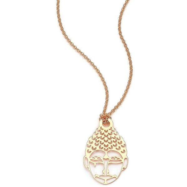 Ginette NY Buddah 18-karat rose gold necklace YwCE3dj