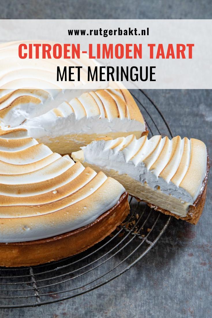 Citroen-limoen taart met meringue van Rutger Bakt