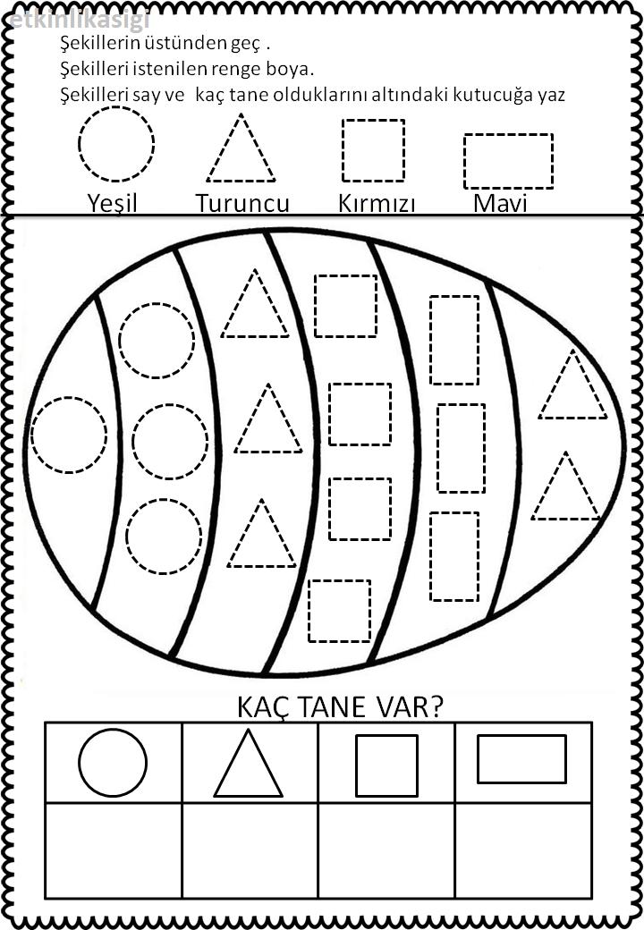 Geometrik şekiller çalışma Sayfası Etkinlikasigi Working Pages