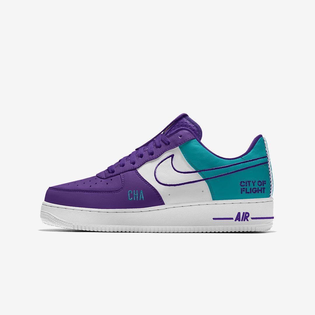 promo code 4309c 02021 Nike Air Force 1 Low Premium iD (Charlotte Hornets) Men s Shoe Size 16  (Multi-Color)