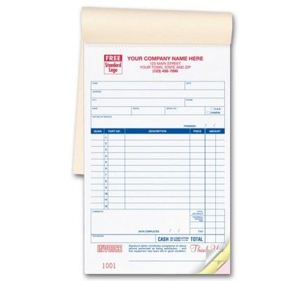 Service Order Invoice Books 321 Go beyond the common mundane - invoice slips