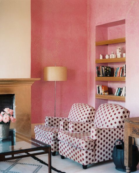 Wall Treatments | Polka dot chair, Room and Living rooms