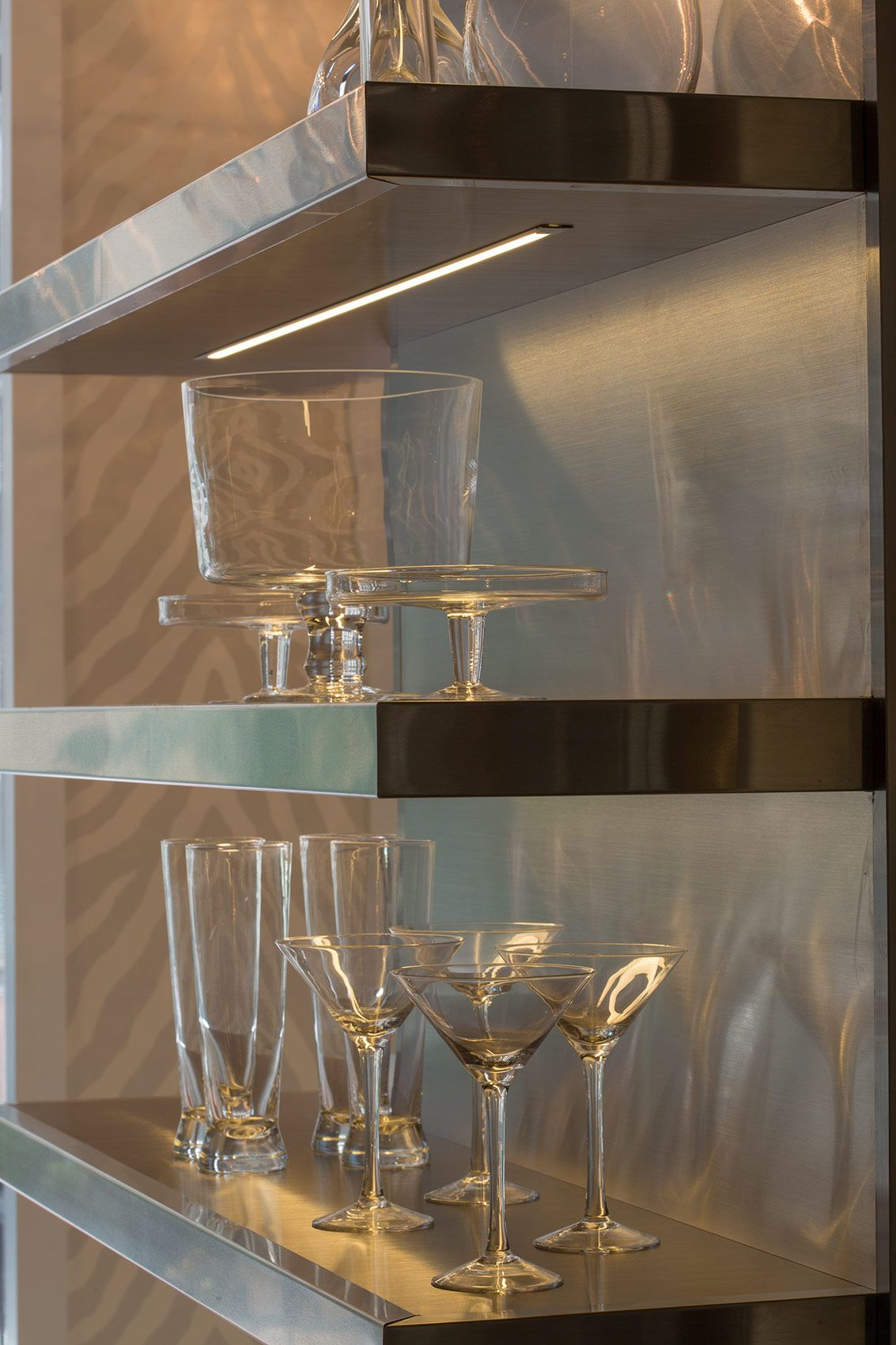 Shelf stainlesssteal glass kitchen sexy our showroom pinterest