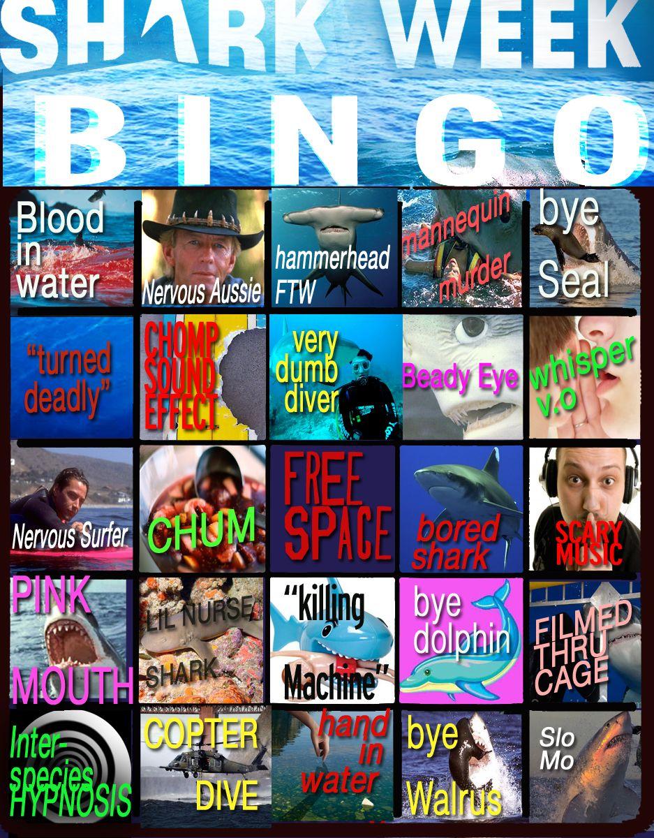 Design muse shark week - Happy Shark Week Time To Play Shark Week Bingo News Tv