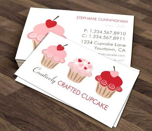 Sweet Cupcakes Business Card Template This Great Business Card - Cupcake business card template