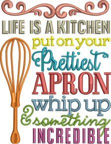 In The Hoop Home Accessories Kitchen Sayings Set Embroidery