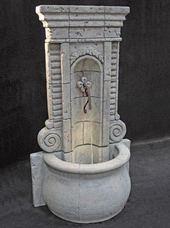 Champagne Wall Outdoor Fountain   Tall | Garden Water Fountains, Walled  Garden And Water Fountains