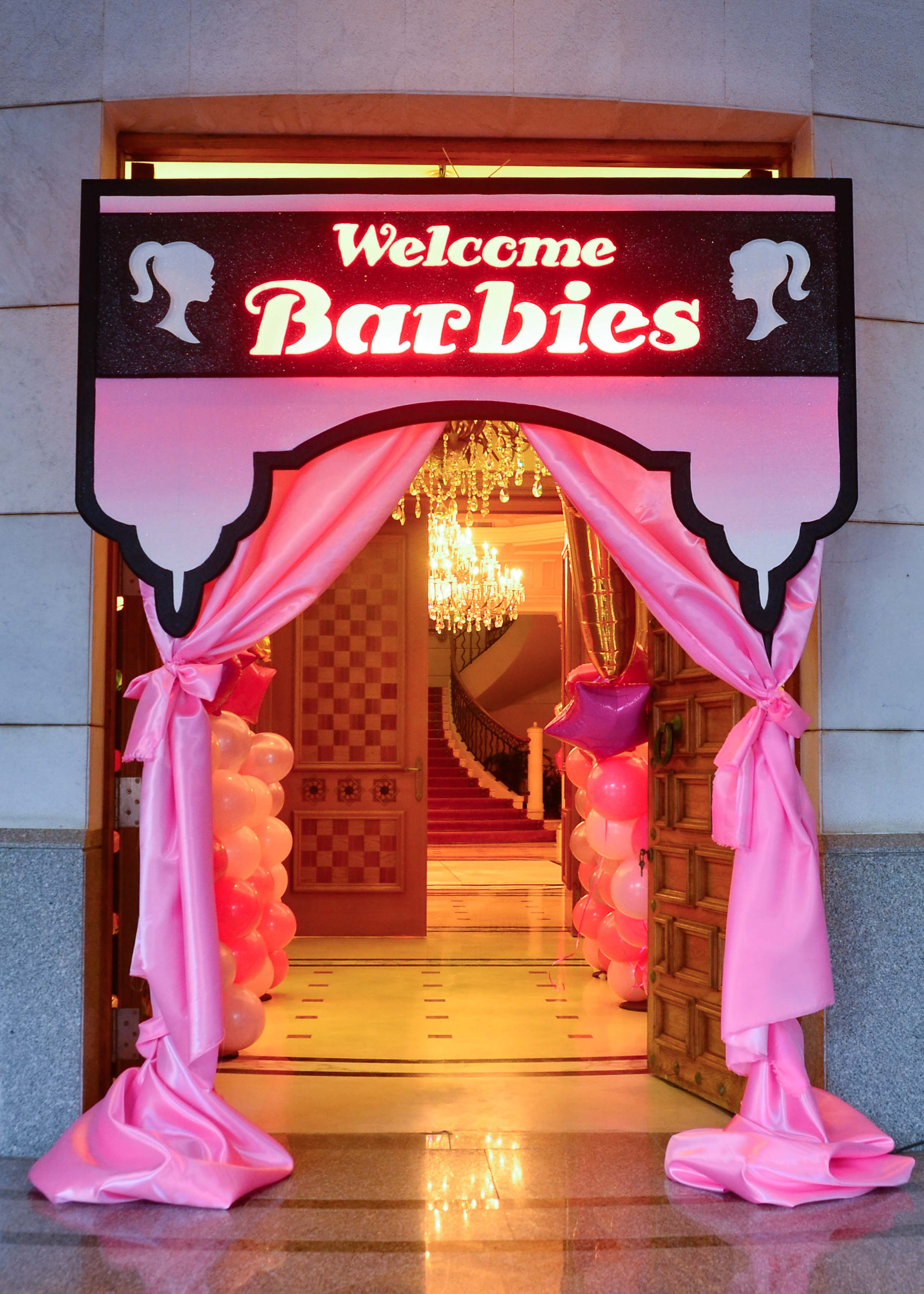 Entrance Welcome Panel For The Barbie Spa Setup By@Fantasyparty