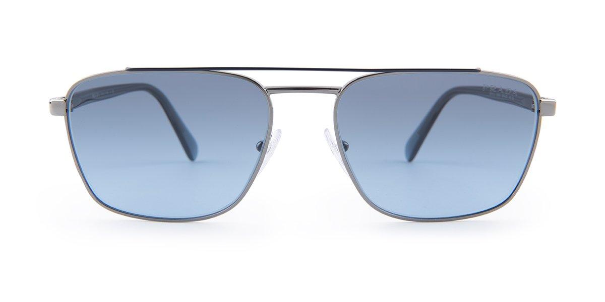 6b4e36db194c Prada SPR61U Silver / Blue / Blue Lens Sunglasses   Prada Sport ...